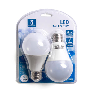 LED A5 A60 BIG ANGLE E27 11W 6400K/DOUBLE(11W,E27,6400k)