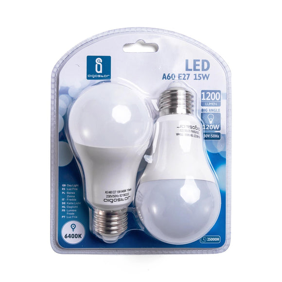 LED A5 A60 BIG ANGLE E27 15W 6400K/DOUBLE(15W,E27,6400k)