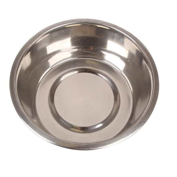 STAINLESS STEEL STANDARD FEEDING  BOWLS WITH BONDED RUBBER D14*H7.2CM SILVER 08