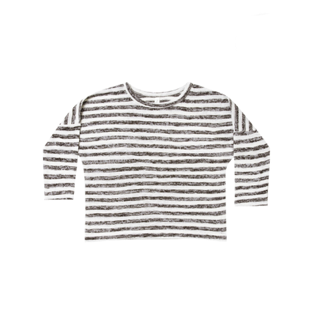 Rylee and Cru Boxy Striped Tee Ivory/Black