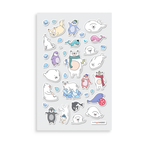OOLY Itsy Bitsy: Artic Stickers - 1 Sheet