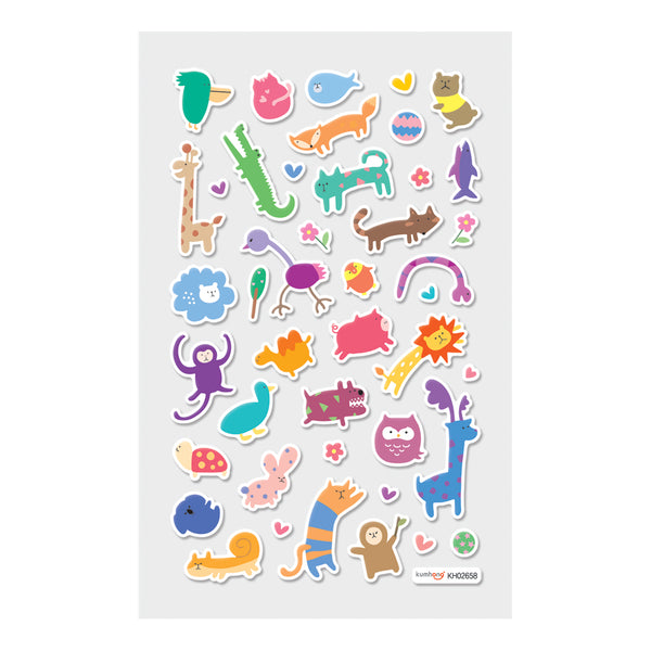 OOLY Itsy Bitsy: Wacky Wildlife Stickers - 1 Sheet