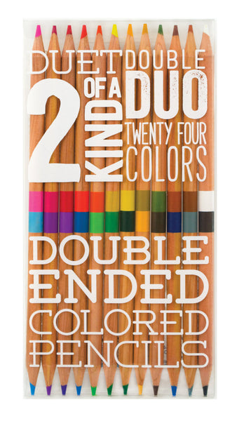 OOLY 2 Of A Kind Double Ended Colored Pencils - Set of 12 / 24 Colors