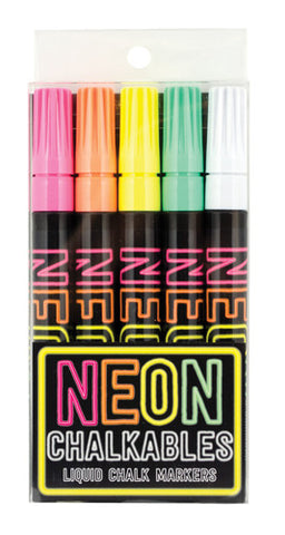 IA Neon Chalkables Liquid Chalk Markers - Set of 5