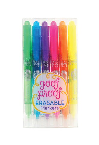 OOLY Goof Proof Erasable Markers - Set of 6