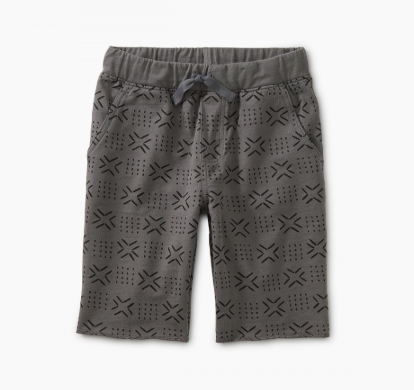 Tea Collection Pattern Cruiser Shorts Basketweave Geo