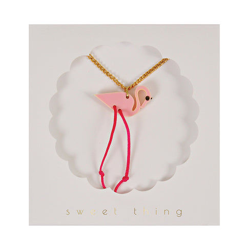 Meri Meri Flamingo Necklace