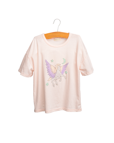 Siaomimi Unicorn Tee Powder