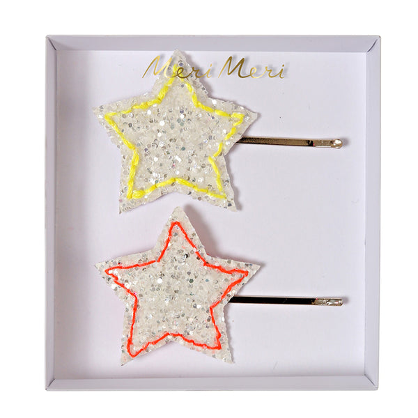 Meri Meri Glitter Star Hair Clips