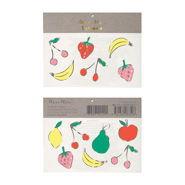Meri Meri Foil Neon Fruit Tattoos