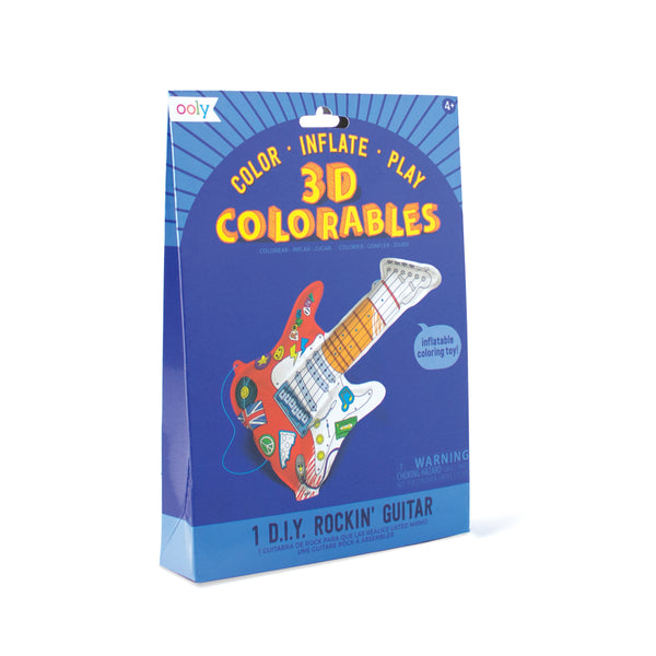 OOLY 3D Colorables - Rockin Guitar - Set of 2