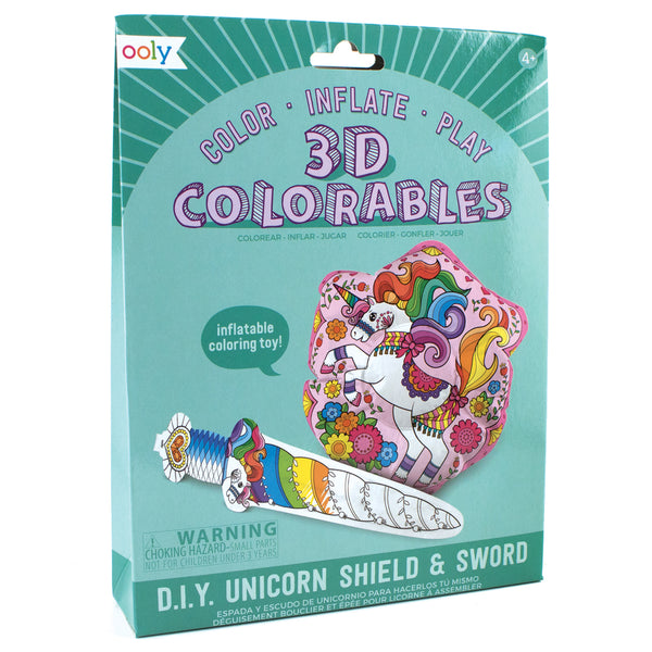 OOLY 3D Colorables - Magical Unicorn - Set of 2