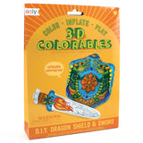 OOLY 3D Colorables - Dragon Shield & Sword  - Set of 2