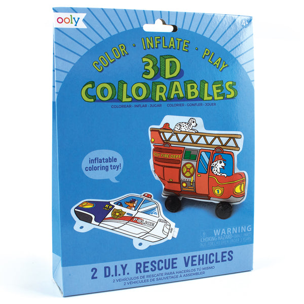 OOLY 3D Colorables - Rescue Vehicles  - Set of 2