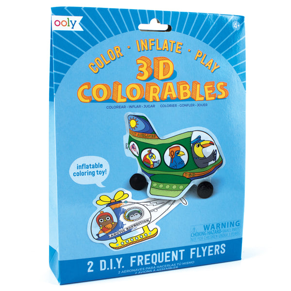 OOLY 3D Colorables - Frequent Flyers - Set of 2