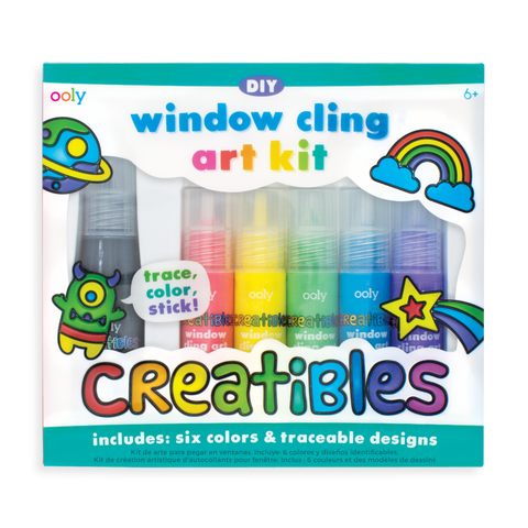 OOLY Creatibles Window Cling Art Kit 8 pc Set