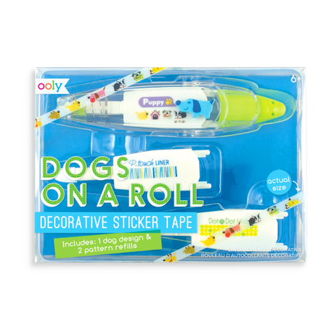 OOLY Dogs on a Roll Deco Tape and Refill