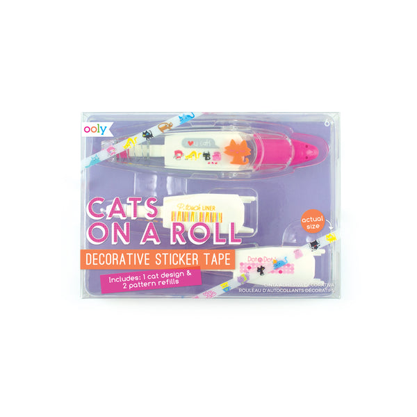 OOLY Cats on a Roll Deco Tapes 3 Piece Set