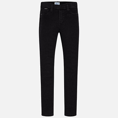Mayoral Black Basic Denim Pants