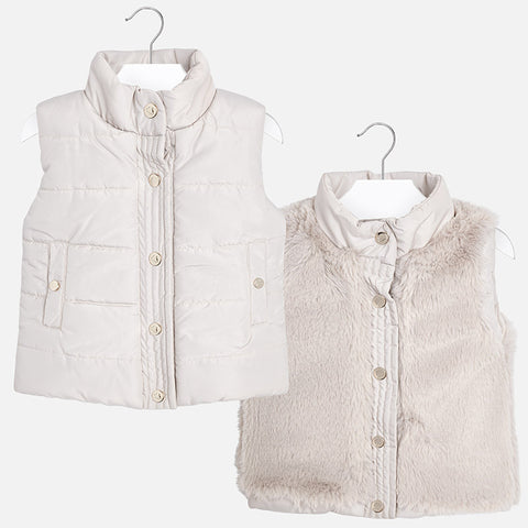 Mayoral Stone Reversible Puffer Vest