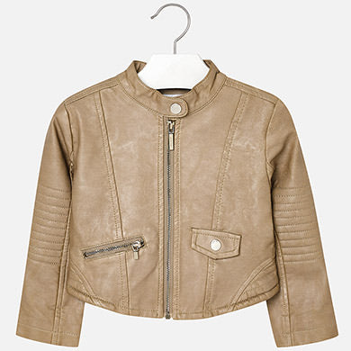 Mayoral Camel Leather Jacket