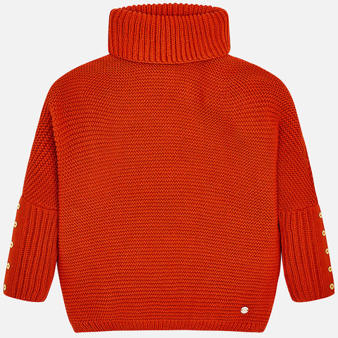 Mayoral Brick Red Oversize Sweater