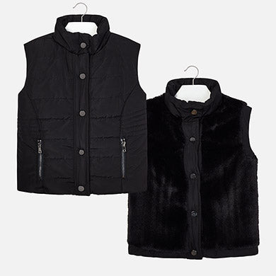 Mayoral Black Reversible Puffer Vest