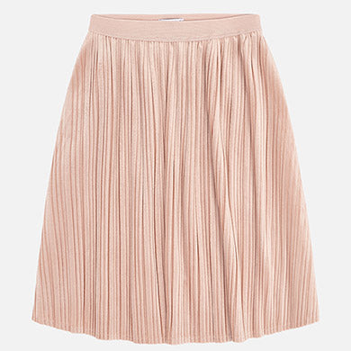 Mayoral Nude/Blush Pleated Skirt