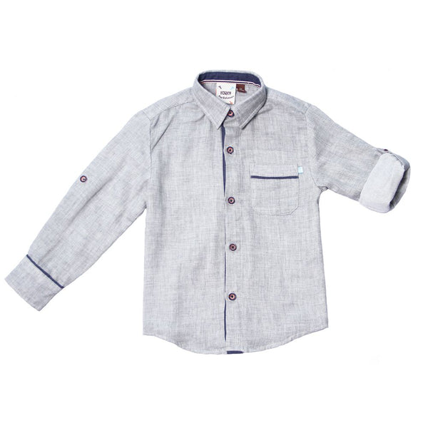 Fore Heather Grey Double Faced Roll Shirt