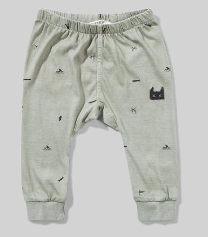 Munster Kids Bones and Boards Pants Washed Olive
