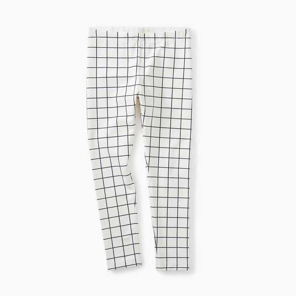 Tea Collection City Grid Leggings Chalk