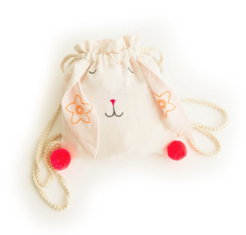 Lali Bunny Backpack Ecru/Jasmine