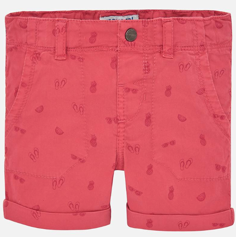 Mayoral Micro Printed Shorts Chewing Gum