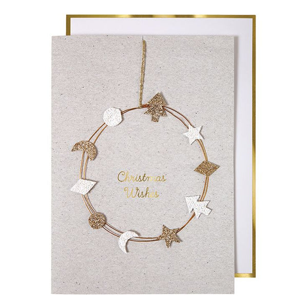 Meri Meri Sparkly Wreath Card
