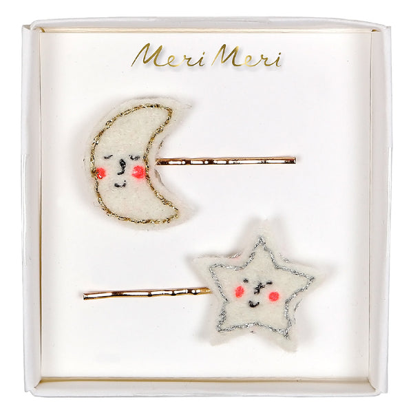 Meri Meri Moon Star Hair Clips 2