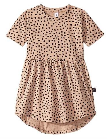 Huxbaby Freckle Dress Swirl Camel