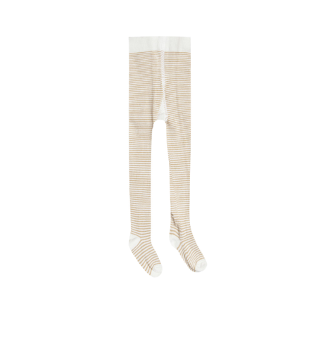 Rylee and Cru Stripe Ribbed Tights Honey/Ivory