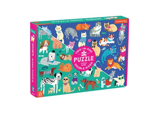 Two in One 100 Piece Puzzle Cats and Dogs