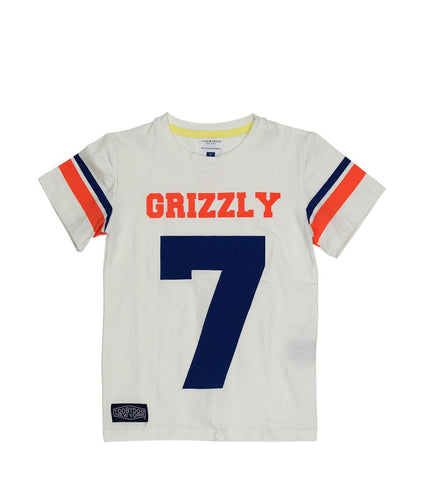 Tooby Doo Boys SS Tee White Grizzly