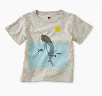 Tea Collection Manatee Baby Graphic Tee Light Grey Heather