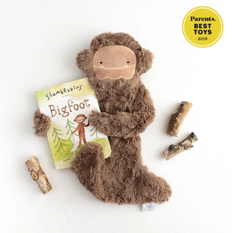Slumberkins- Bigfoot Snuggler Bundle - Silken Brown