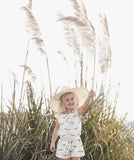 Rylee and Cru Umbrella Rover Romper Ivory