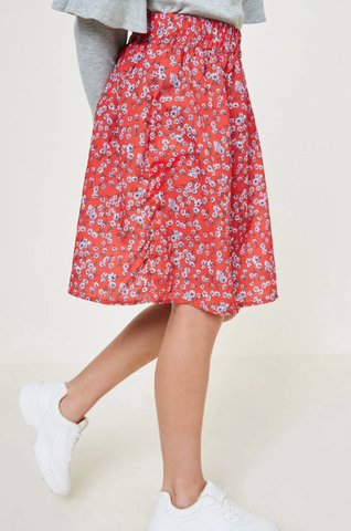 Hayden Floral Skirt Red