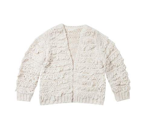 Rylee and Cru Fringe Cardigan Ivory