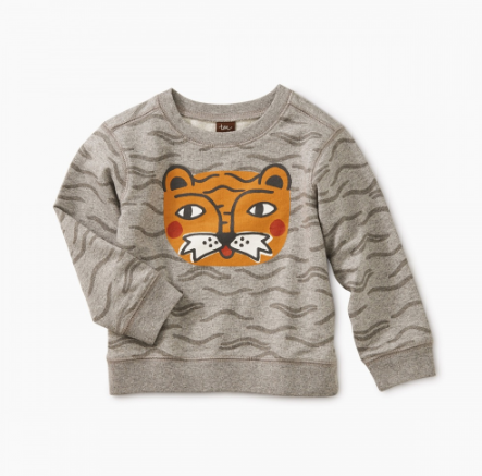 Tea Collection  Tigerlicious Graphic Popover Tiger Stripes