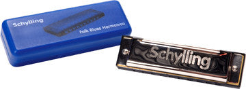 Schylling Blues Harmonica In Plastic Case
