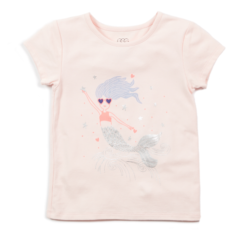Egg Cleo Graphic Tee-pink mermaid