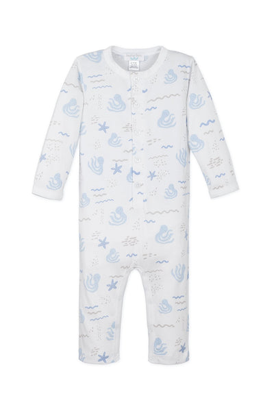 Feather Baby Long John - Octopi on White