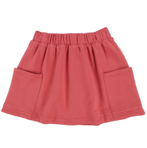 Miles Baby Skirt Knit Red