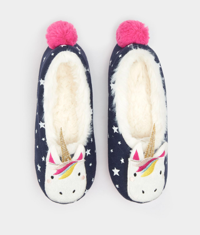 Joules Unicorn Slippers